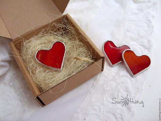 """Броши ручной работы. Ярмарка Мастеров - ручная работа. Купить Брошь """"Сердце"""". Handmade. Ярко-красный, красный, сердце, сердечки"""
