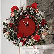 Подарки к праздникам ручной работы. Ярмарка Мастеров - ручная работа Праздничные часы. Handmade.