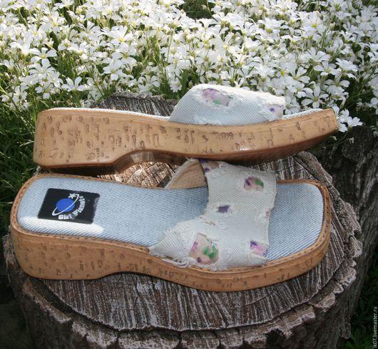 Винтажная обувь. Ярмарка Мастеров - ручная работа. Купить Обувь Панталеты Детские Джинсовые. Handmade. Обувь, панталеты, джинсавая ткань