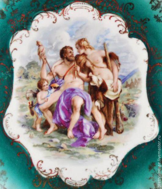 Винтажная посуда. Ярмарка Мастеров - ручная работа. Купить Фарфор Антикварная Тарелка Для Декора Античная Роспись. Handmade. Комбинированный