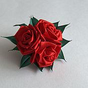 """Работы для детей, ручной работы. Ярмарка Мастеров - ручная работа Резинка для волос """"Розы красные"""". Handmade."""