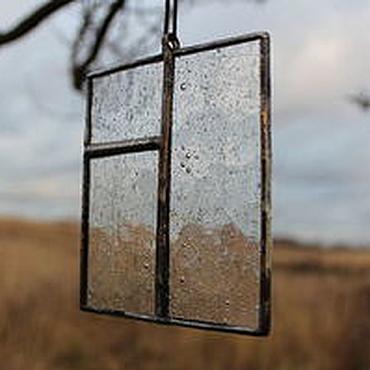 """Для дома и интерьера ручной работы. Ярмарка Мастеров - ручная работа Подвес на окно """"Окна Питера"""" витражный. Handmade."""