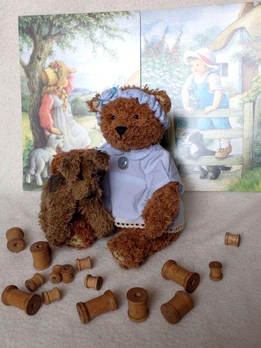 Мишки Тедди ручной работы. Ярмарка Мастеров - ручная работа. Купить Мишка Лия. Handmade. Teddy bear, ярославль, текстиль