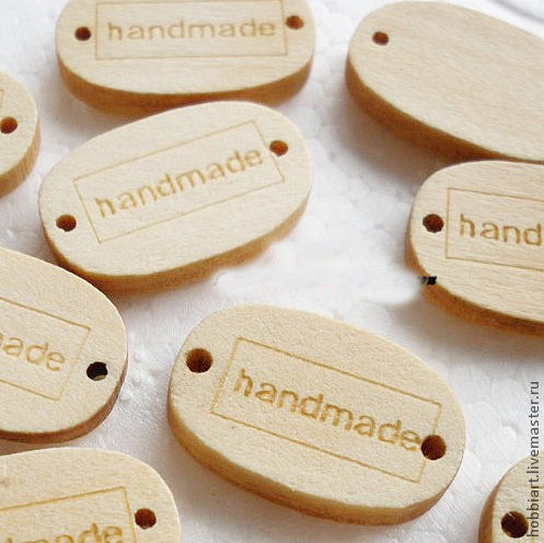 Шитье ручной работы. Ярмарка Мастеров - ручная работа. Купить Бирочки деревянные .. Handmade. Пуговицы, пуговицы для игрушек, пуговицы для кукол