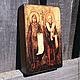 Иконы ручной работы. Ярмарка Мастеров - ручная работа. Купить Икона на дереве Кирилл и Мефодий. Handmade. Разноцветный, икона в подарок