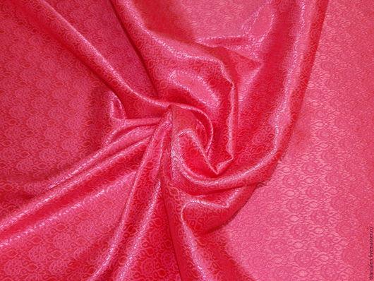 Шитье ручной работы. Ярмарка Мастеров - ручная работа. Купить -10% Итальянская ткань, жаккард атласный Розовый. Handmade. Розовый
