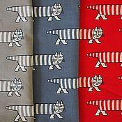 Материалы для творчества ручной работы. Ярмарка Мастеров - ручная работа Ткань с котами трех расцветок. Handmade.