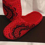 """Обувь ручной работы. Ярмарка Мастеров - ручная работа Тапочки валяные """"Energy"""". Handmade."""