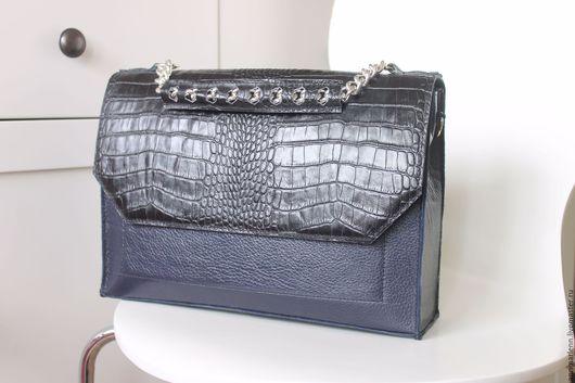 Женские сумки ручной работы. Ярмарка Мастеров - ручная работа. Купить love bag с углами. Handmade. Тёмно-синий