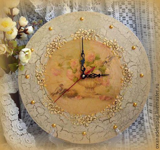 """Часы для дома ручной работы. Ярмарка Мастеров - ручная работа. Купить Часы настенные """"В моем саду"""". Handmade."""