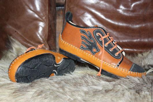 Обувь ручной работы. Ярмарка Мастеров - ручная работа. Купить шкеды. Handmade. Натуральная кожа, обувь для улицы, рыжий, эксклюзив
