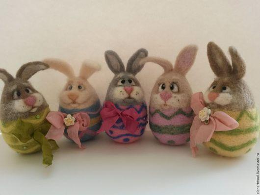 Подарки на Пасху ручной работы. Ярмарка Мастеров - ручная работа. Купить Пасхальные Кролики - валяная игрушка. Handmade. Комбинированный, Пасха