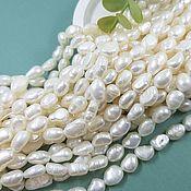 Материалы для творчества handmade. Livemaster - original item Thread Pearl natur. free forms 6-7 mm (thickness) AA (4714). Handmade.