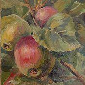 """Картины и панно ручной работы. Ярмарка Мастеров - ручная работа """"Молодые яблочки"""" картина маслом. Handmade."""