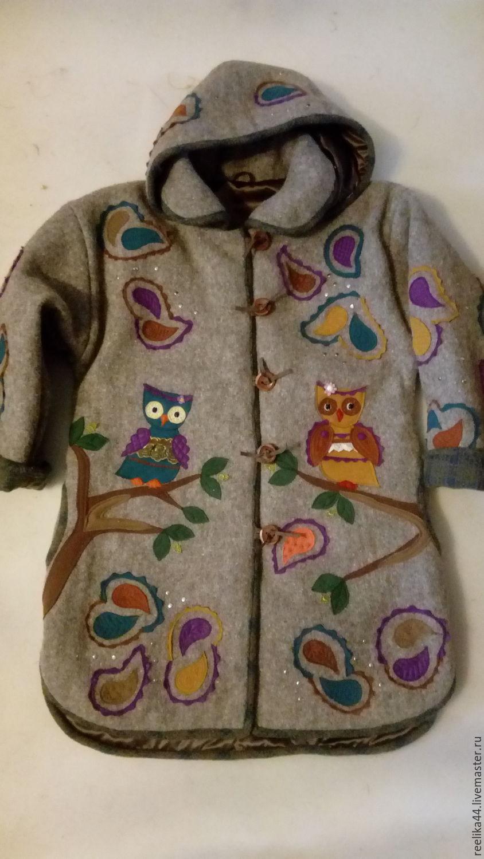 Winter coat wool 'Paisley Owls', Coats, Stupino,  Фото №1
