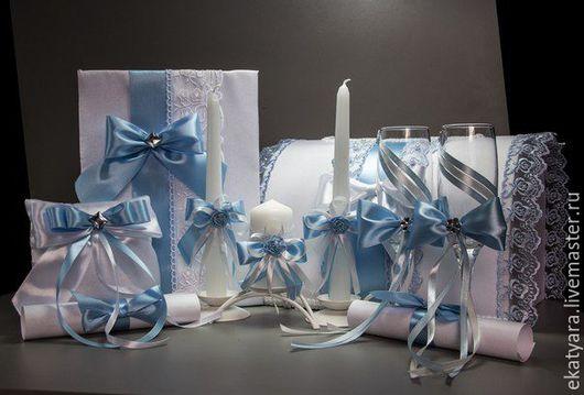 Набор свадебных аксессуаров `Незабудка`