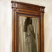 Для дома и интерьера ручной работы. Ярмарка Мастеров - ручная работа Зеркало напольное, большое.  Резная рама для зеркала. Мебель из дуба.. Handmade.