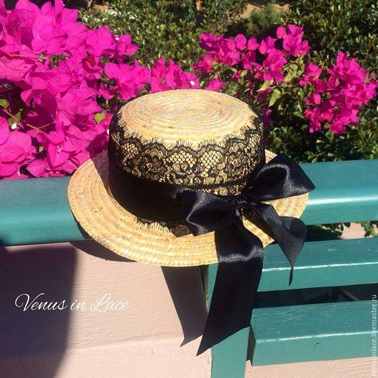Шляпы ручной работы. Ярмарка Мастеров - ручная работа. Купить Соломенная шляпка, Канотье. Handmade. Канотье, шляпка женская