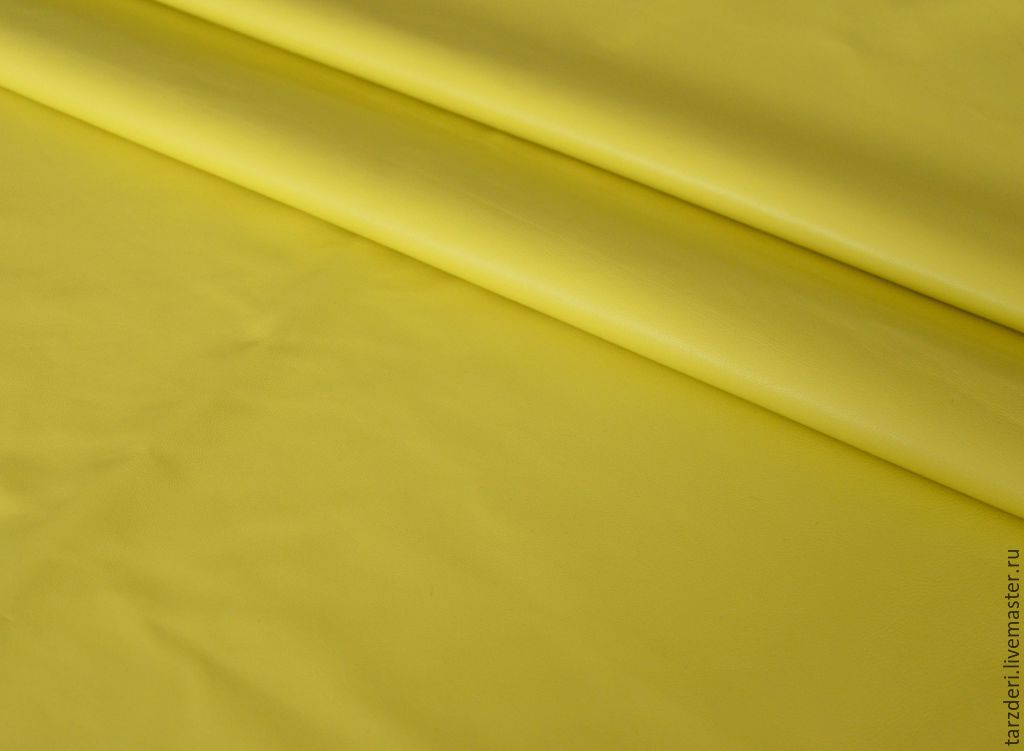 Genuine leather 0,5 mm Yellow, Leather, Ankara,  Фото №1