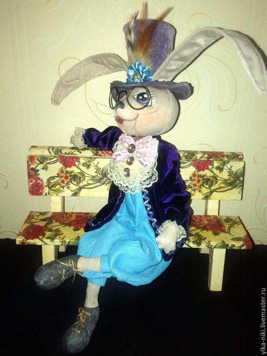 Сказочные персонажи ручной работы. Ярмарка Мастеров - ручная работа. Купить Заяц. Handmade. Комбинированный, длинные уши, интерьерная игрушка