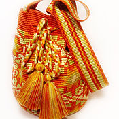 Классическая сумка ручной работы. Ярмарка Мастеров - ручная работа N6 Сумка по мотивам колумбийской сумки Mochila (Мочила). Handmade.
