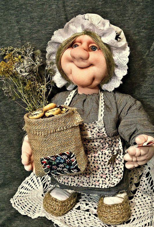 Сказочные персонажи ручной работы. Ярмарка Мастеров - ручная работа. Купить домовушка. Handmade. Серый, оберег для дома, капроновая кукла