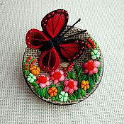 Украшения handmade. Livemaster - original item textile brooch