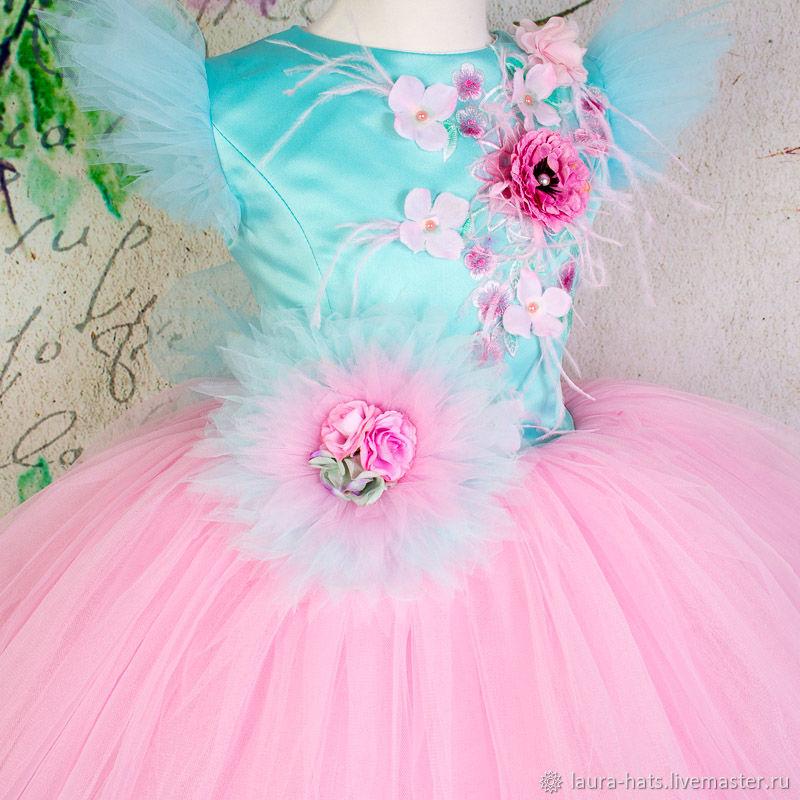 Нарядное платье для девочки Детское пышное платье на выпускной