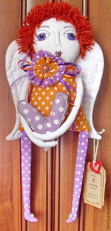Ароматизированные куклы ручной работы. Ярмарка Мастеров - ручная работа. Купить Ангел Влюблённых Сердец. Handmade. Ангел, примитивная кукла