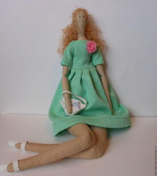 """Куклы Тильды ручной работы. Ярмарка Мастеров - ручная работа. Купить Кукла""""Николь"""", в стиле тильда,в платье цвета мяты.. Handmade."""