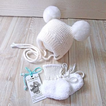 Clothing handmade. Livemaster - original item Knitted bonnet for newborn. Handmade.