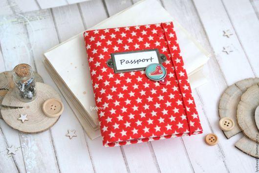 Обложки ручной работы. Ярмарка Мастеров - ручная работа. Купить Тканевая обложка на паспорт. Handmade. Комбинированный, обложка для документов, брадс