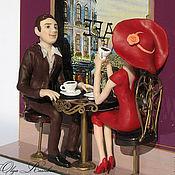 """Для дома и интерьера ручной работы. Ярмарка Мастеров - ручная работа Часы """"Свидание в парижском кафе """". Handmade."""