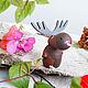 """Сказочные персонажи ручной работы. Ярмарка Мастеров - ручная работа. Купить """"Лосик""""   из серии """"Мульти- пульти"""" деревянная игрушка  -магнит. Handmade."""