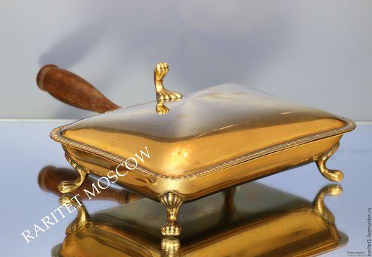Винтажная посуда. Ярмарка Мастеров - ручная работа. Купить РЕДКОСТЬ Антикварное блюдо лев бронза латунь 9. Handmade. Золотой
