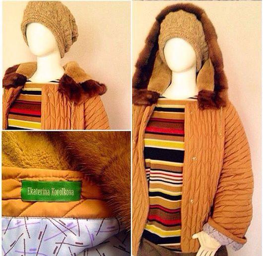 Верхняя одежда ручной работы. Ярмарка Мастеров - ручная работа. Купить Куртка с меховым капюшоном.. Handmade. Куртка женская