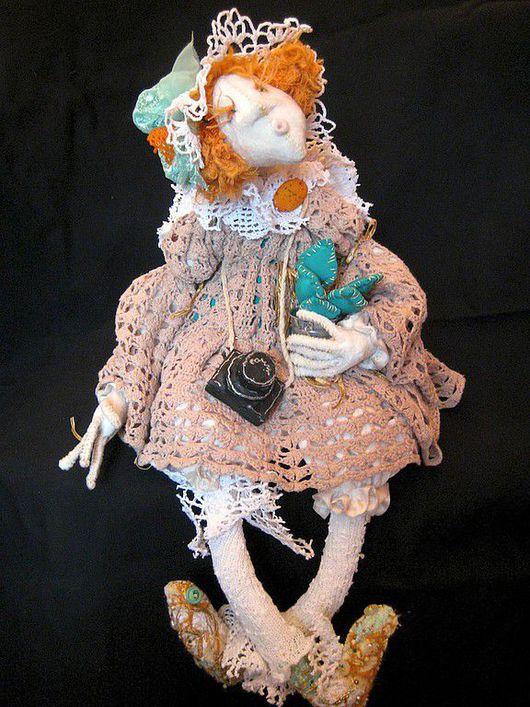 Коллекционные куклы ручной работы. Ярмарка Мастеров - ручная работа. Купить Оранжевая с неба. Handmade. Текстиль