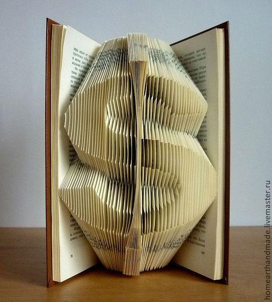Элементы интерьера ручной работы. Ярмарка Мастеров - ручная работа. Купить Доллар - оригинальные необычные подарки. Handmade. Book sculpture