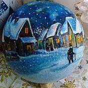 """Подарки к праздникам ручной работы. Ярмарка Мастеров - ручная работа Новогодний шар """"Андерсен"""", 6,5см. Handmade."""