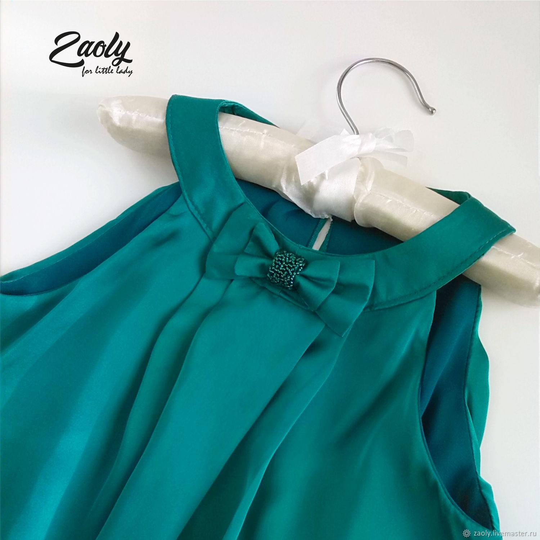 Платье для девочки Изумруд