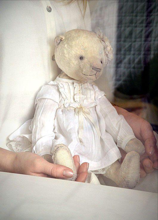 Мишки Тедди ручной работы. Ярмарка Мастеров - ручная работа. Купить Амая,очень любимая.. Handmade. Белый, Плюшевый мишка