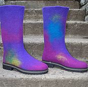 Обувь ручной работы handmade. Livemaster - original item Felted boots Northern Lights. Handmade.