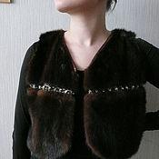 Одежда ручной работы. Ярмарка Мастеров - ручная работа Норковый жилет. Handmade.