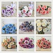 """Цветы искусственные ручной работы. Ярмарка Мастеров - ручная работа Букет """"Розы интерьерные"""" (9 расцветок). Handmade."""