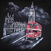 Одежда handmade. Livemaster - original item T-shirt  hand painted London, big Ben. Handmade.