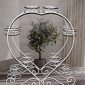 Цветы и флористика handmade. Livemaster - original item Stand Narrow Heart on 16 plates. Handmade.