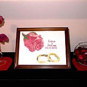 Свадебный салон handmade. Livemaster - original item Embroidered wedding metric