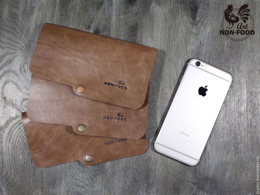 Для телефонов ручной работы. Ярмарка Мастеров - ручная работа. Купить Чехол для iPhone 6, iPhone 7 из натуральной кожи. CH - 601. Handmade.