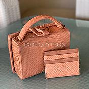 Сумки и аксессуары handmade. Livemaster - original item Bag-box made of Python skin. Handmade.