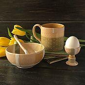 Сервизы ручной работы. Ярмарка Мастеров - ручная работа Комплект для завтрака «Конструктивизм». Handmade.